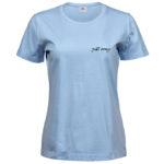 Just Pray   Ladies Sof T-Shirt   Light Blue   Black print   Small