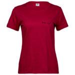 Wisdom   Ladies Sof T-Shirt   Red   Black print   Small
