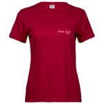 Wisdom   Ladies Sof T-Shirt   Red   White print   Small