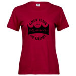 Grey Hair   Ladies Sof T-Shirt   Deep Red   Black print