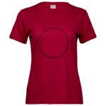 Fruits of the Spirit   Ladies Sof T-Shirt   Deep Red   Black print