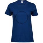 Fruits of the Spirit   Ladies Sof T-Shirt   Indigo   Black print