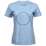 Fruits of the Spirit   Ladies Sof T-Shirt   Light Blue   Black print