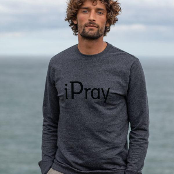 iPray | Unisex Banff Regen Sweatshirt | Charcoal/Black