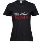 No other name   Ladies Sof T-Shirt   Black   White/Red print