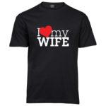 I love my wife | Sof T-Shirt | Black | White/Red print