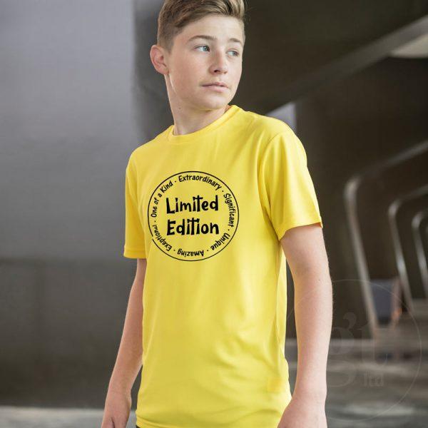 Limited Edition   Kids & Teen tee   lemon   black print