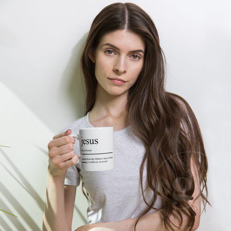 Jesus Noun | Printful Mug | Flat | Go Tell Ltd