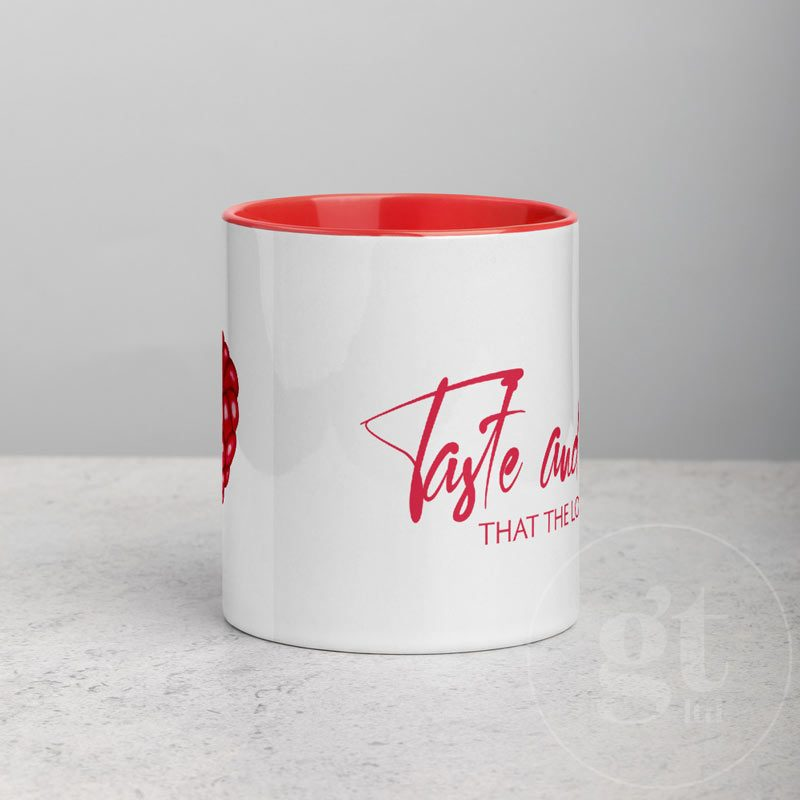 Taste and See   Printful Mug   Red   Go Tell Ltd