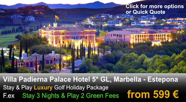 Hotel Golf night aerial view