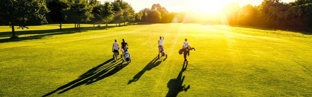 Golf course sunset