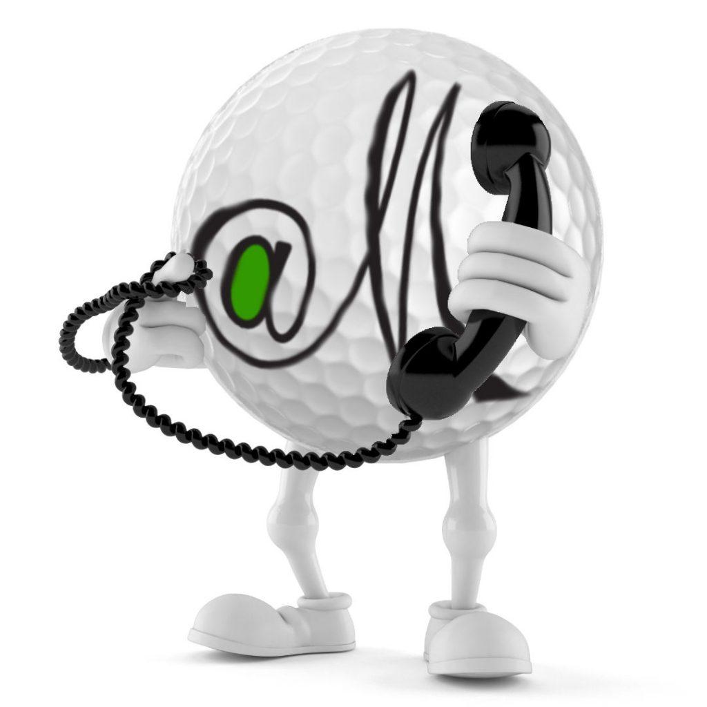 GolfatM Logo @M Golf ball