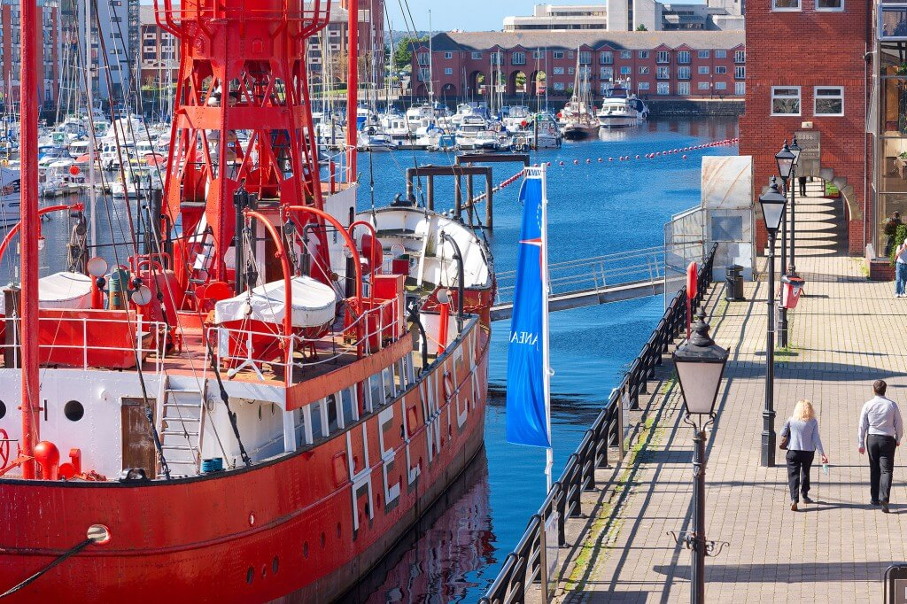 "Lightship ""Helwick"". One of the floating exhibits at Swansea Museum."