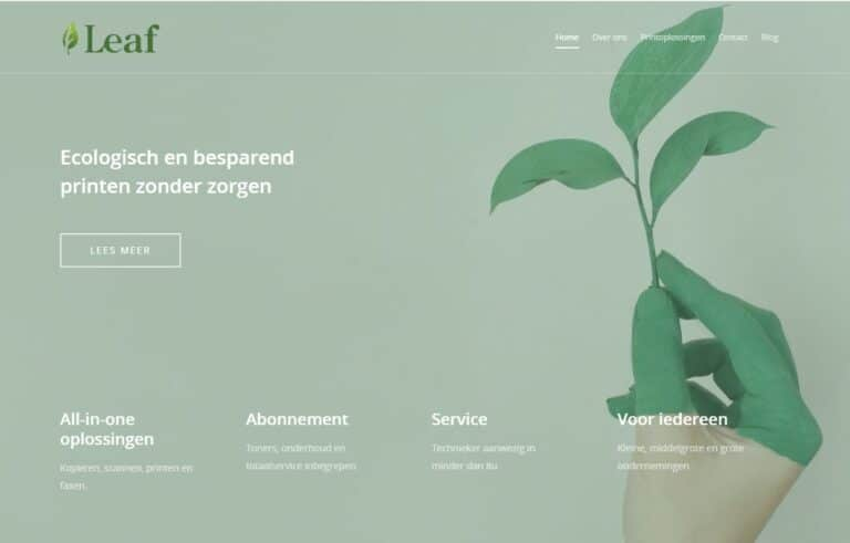 Gradatus Online Marketing te Tongeren Project Leaf Printers