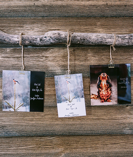 Print personal christmas cards