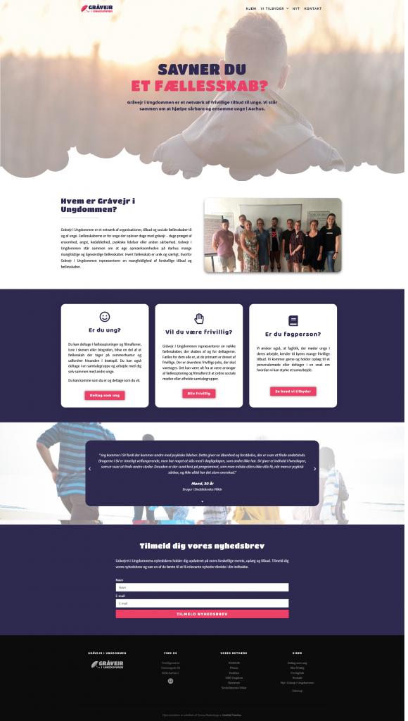 Gråvejr i ungdommen hjemmeside