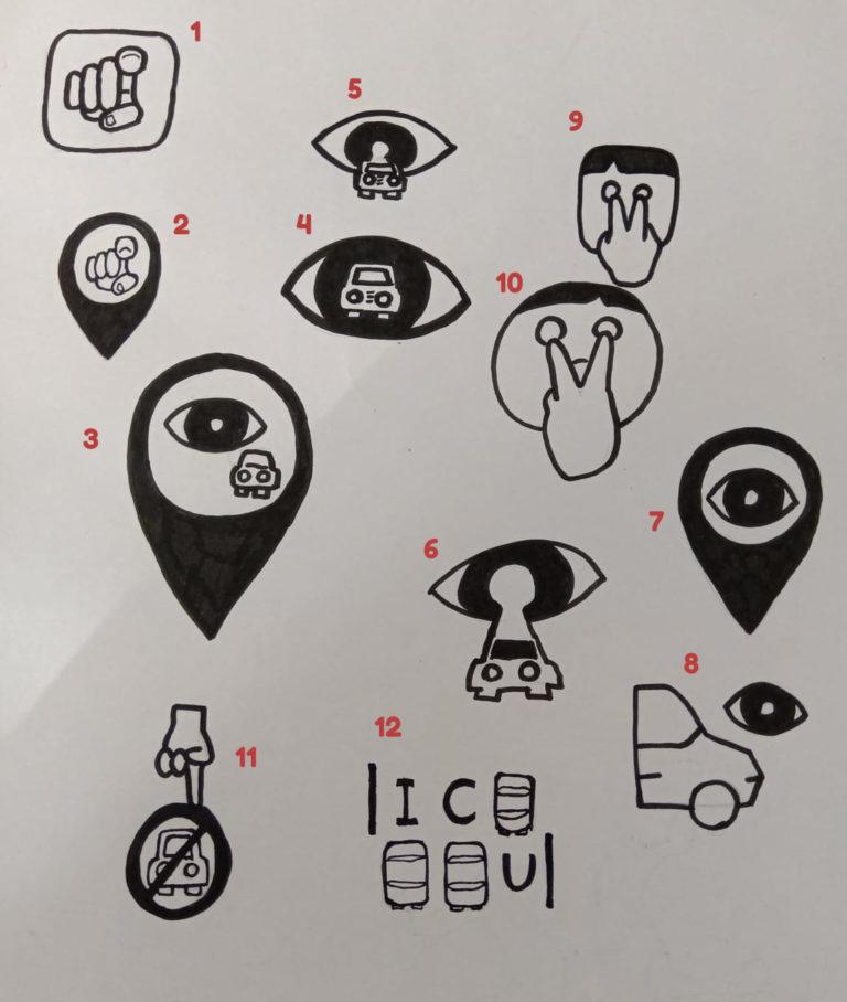ICU Park - Skitser til logo