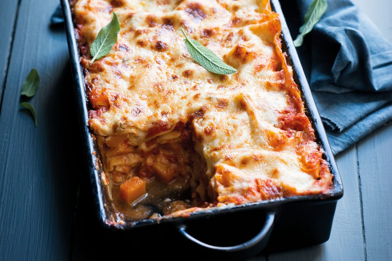 Kürbis-Steinpilz-Lasagne
