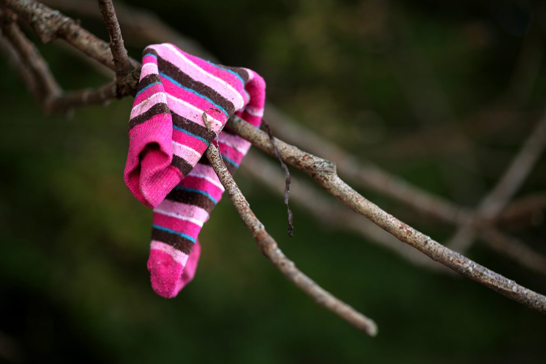 Verflixt, wo ist die zweite Socke hin?