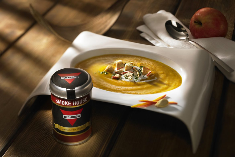 Apfel-Kürbis-Suppe mit Croûtons