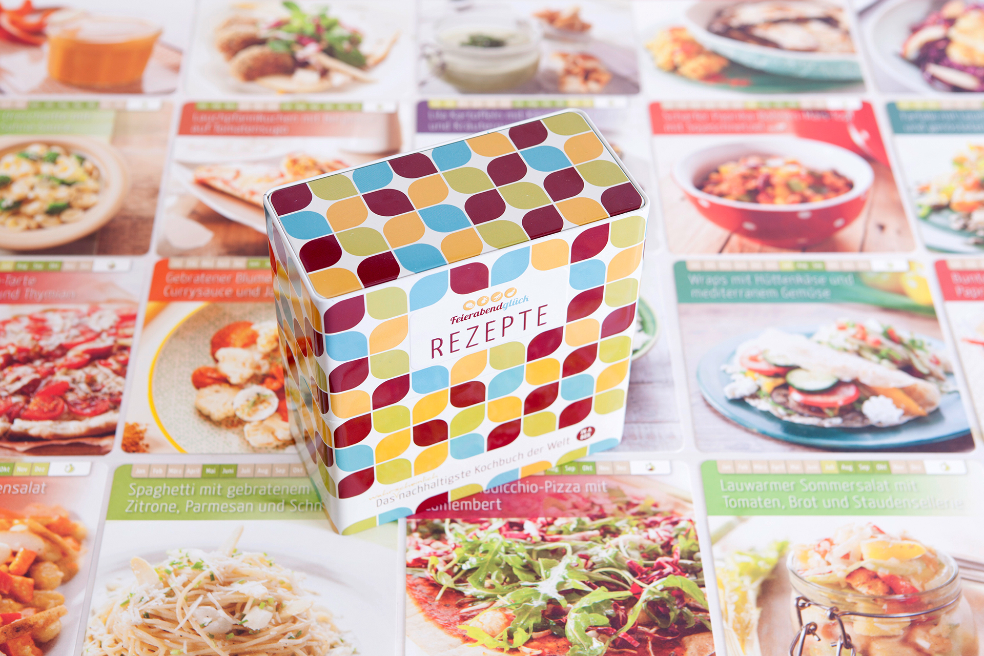 Nach dem Kochspaß sind die Rezeptkarten schnell wieder in der hübschen Box verstaut