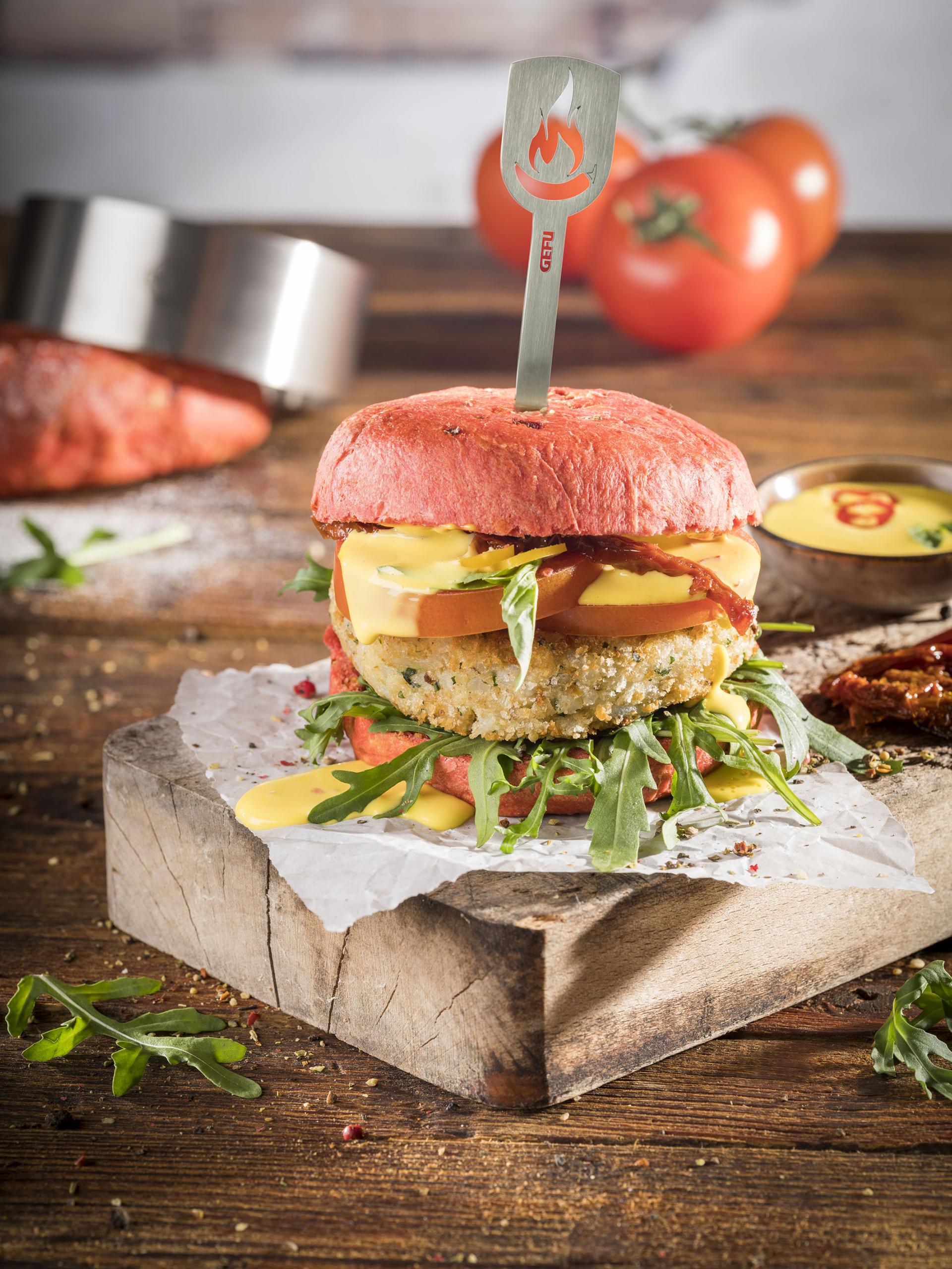 Zum Anbeißen lecker: Vegane Risotto-Burger