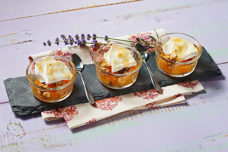 Orangen-Walnuss-Dessert mit Ziegenkäse