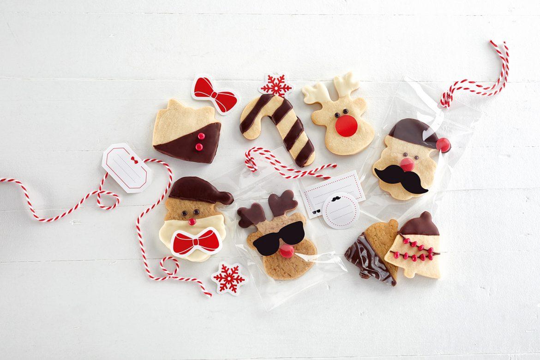 Butterkekse im Christmas Style