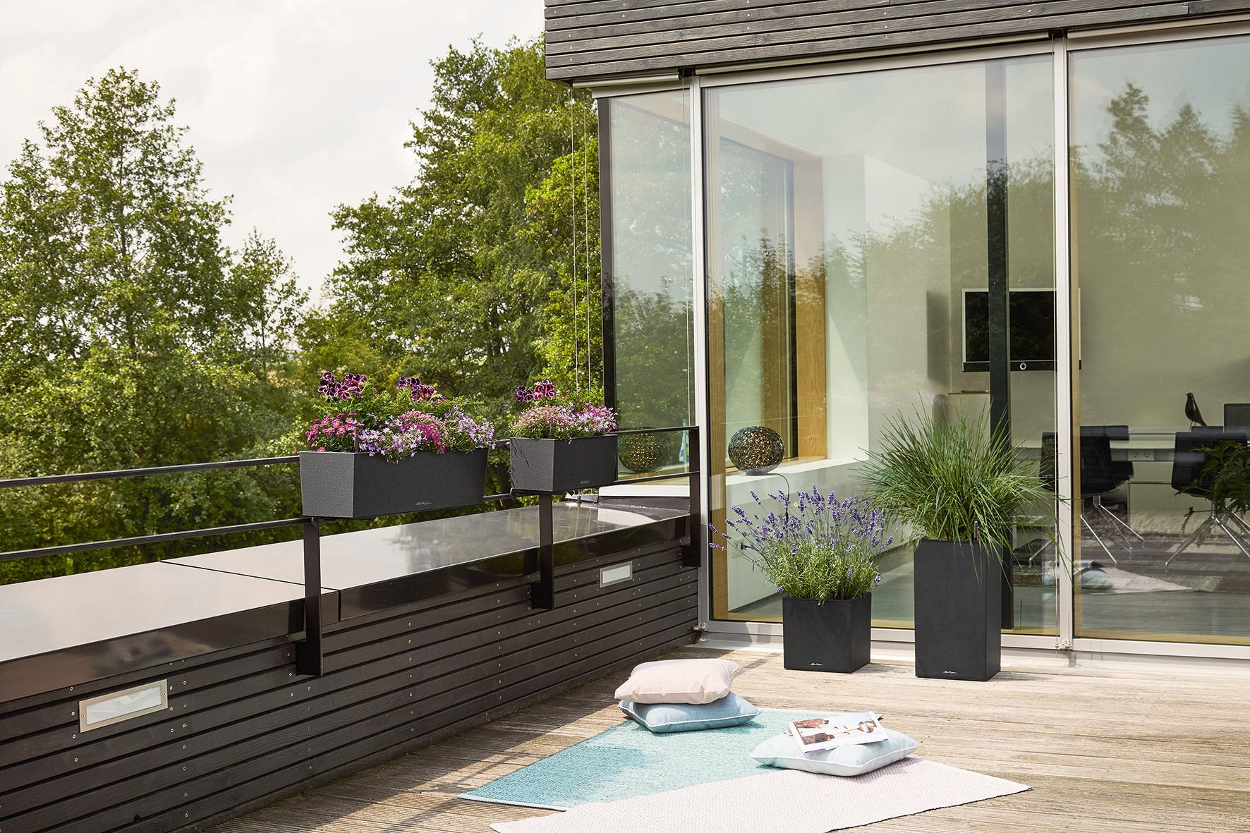Die Pflanzgefäße fügen sich harmonisch in jedes Ambiente und bieten auch Bienenweiden ein Zuhause