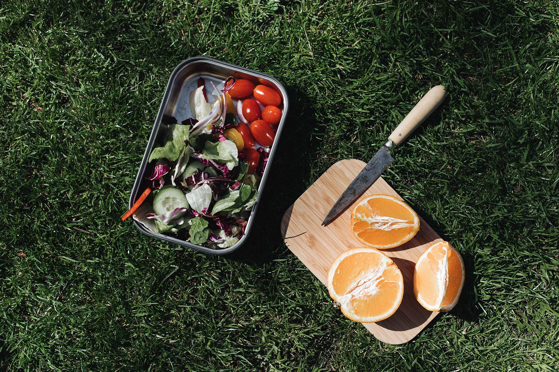 Sandwichbox mit Bambusdeckel