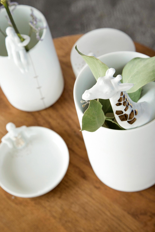 Porzellangeschichten - Vase Gärtner und Vase Giraffe