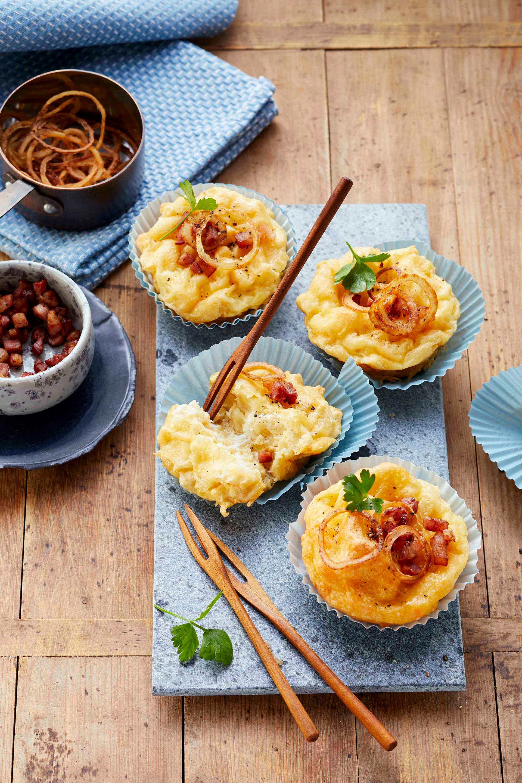 Kasspatzn-Muffins schmecken auch in der vegetarischen Variante einfach himmlisch