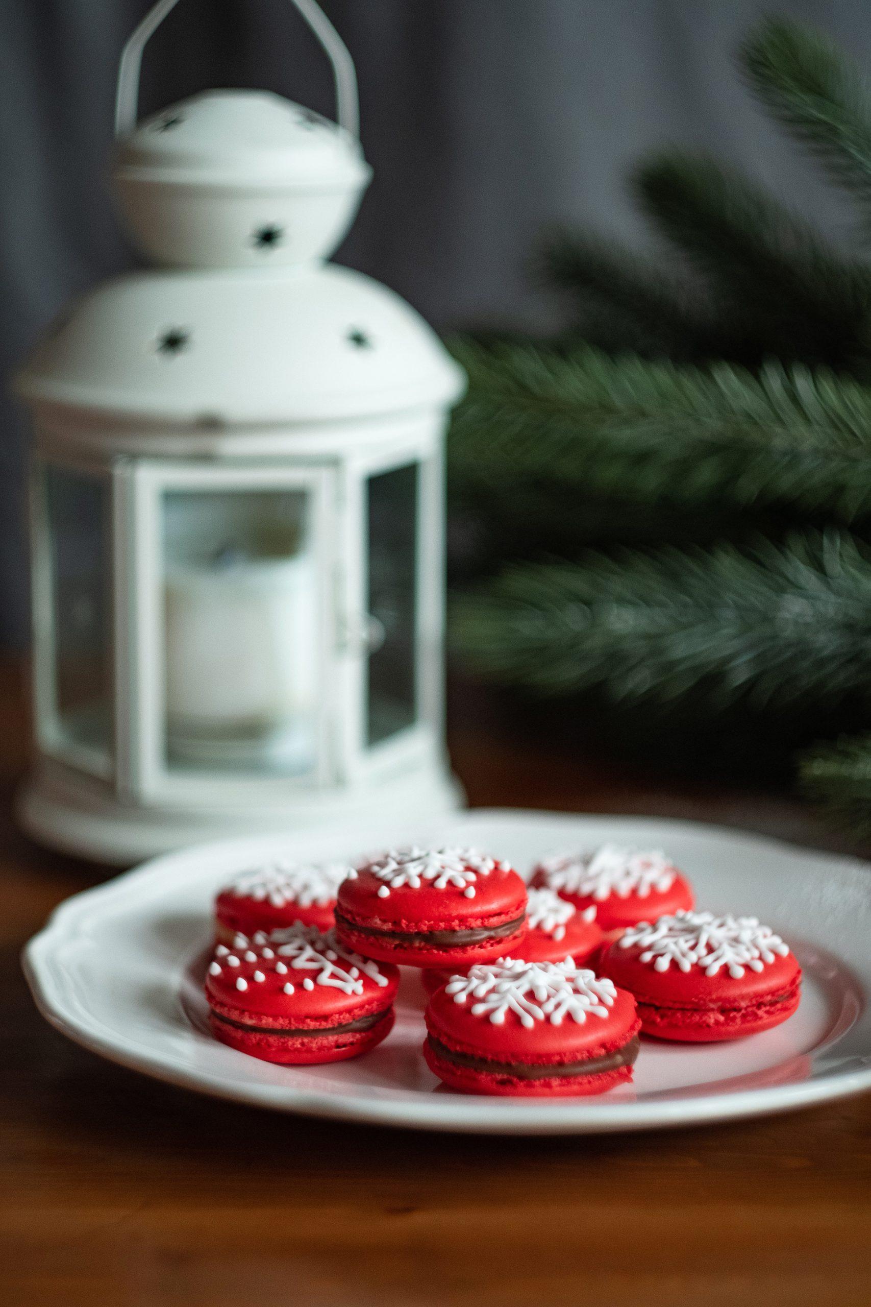 Santa's Christmas Macarons sind ein schönes Mitbringsel in der Adventszeit
