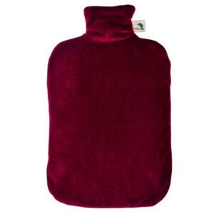 Öko-Wärmflasche Classic Comfort mit rotem Nickibezug