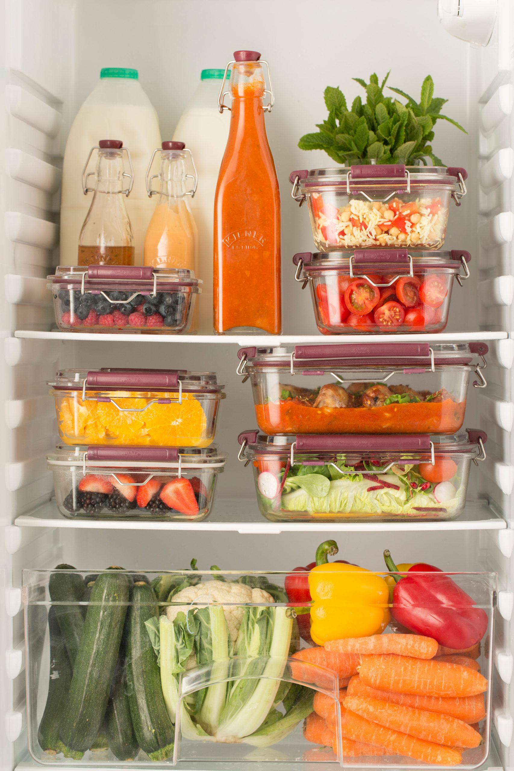 Die Frischhaltedosen mit Bügelverschluss sorgen für mehr Ordnung und Frische in deinem Kühlschrank