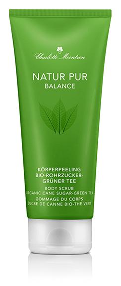 NATUR PUR BALANCE Körperpeeling Bio-Rohrzucker-Grüner Tee