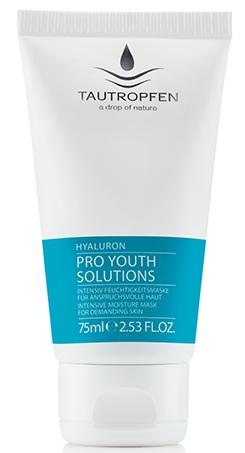 Tautropfen Hyaluron Pro Youth Solutions Intensiv Feuchtigkeitsmaske