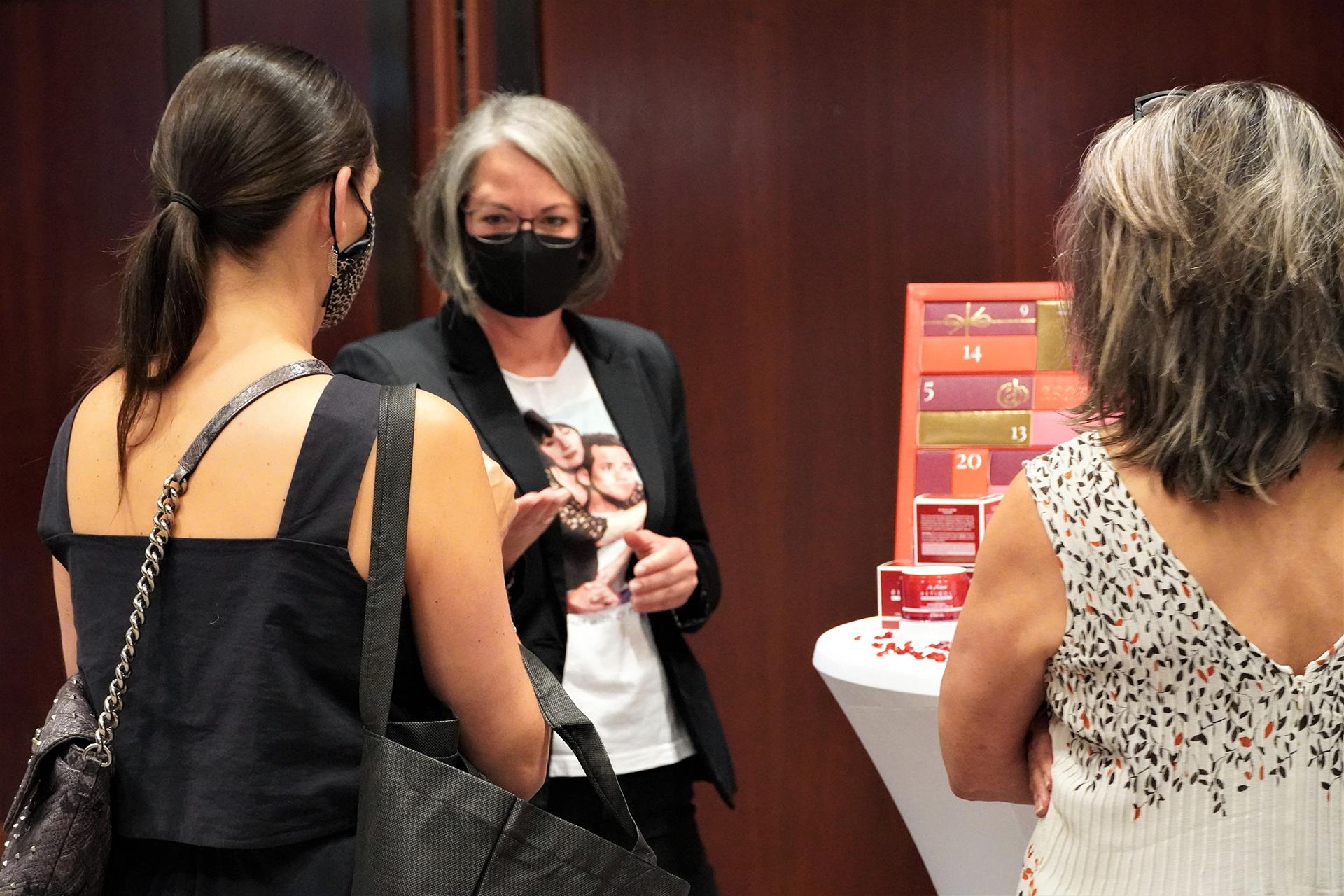 Verena Liensberger im Gespräch mit Redakteurinnen