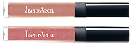 JEAN D'ARCEL lip gloss romantic rose No. 16 und JEAN D'ARCEL lip gloss rosy shine No. 17
