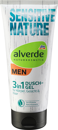 alverde NATURKOSMETIK MEN Sensitive Nature 3in1 Duschgel