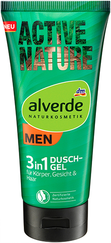 alverde NATURKOSMETIK MEN Active Nature 3in1 Duschgel