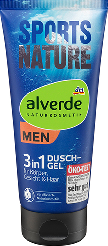 alverde NATURKOSMETIK MEN Sports Nature 3in1 Duschgel