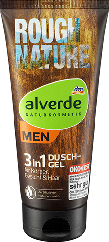 alverde NATURKOSMETIK MEN Rough Nature 3in1 Duschgel
