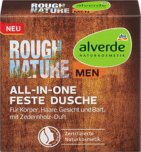 alverde NATURKOSMETIK MEN Rough Nature All-In-One Feste Dusche