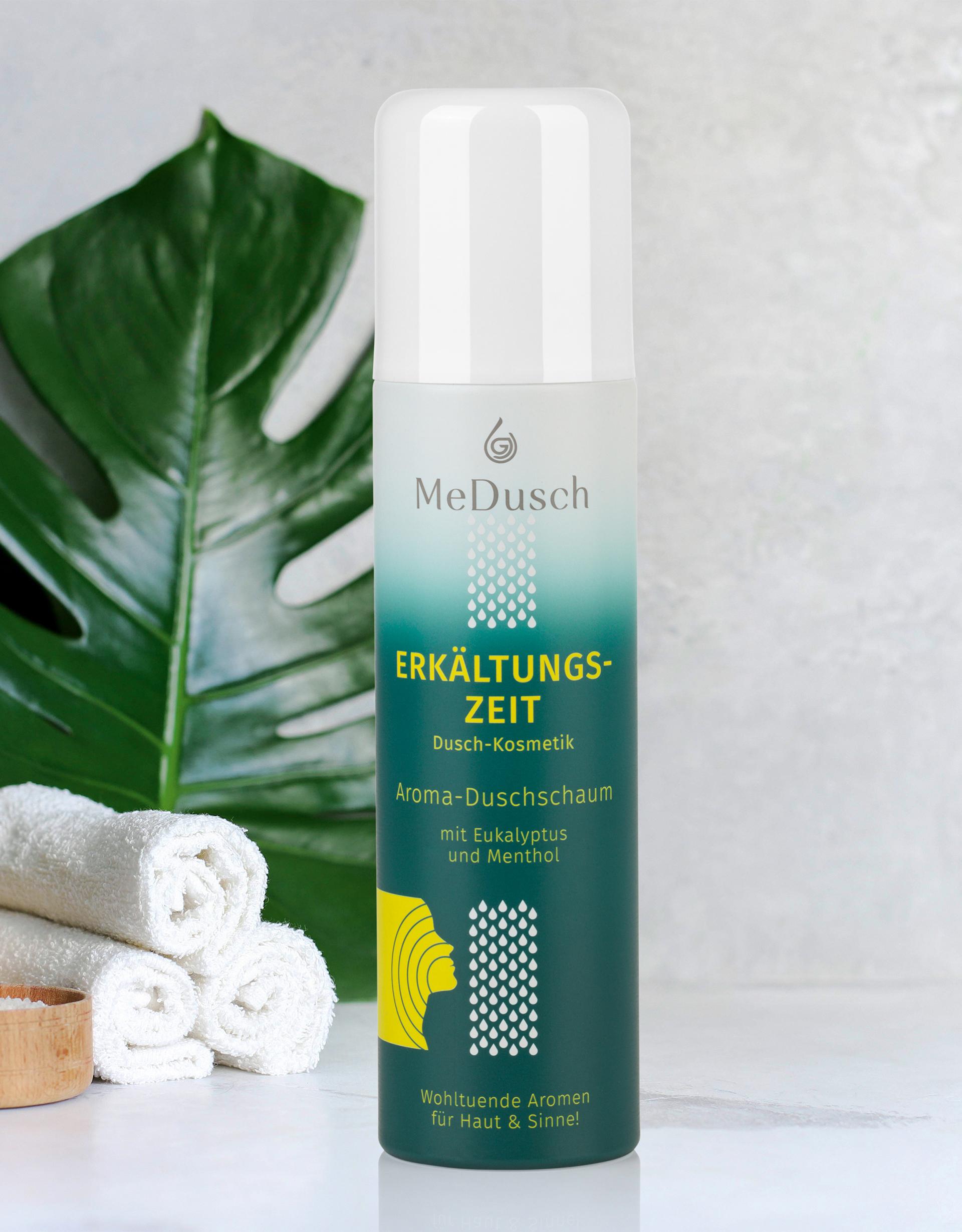 Wohltuende Aromen für Haut und Sinne: MeDusch Aroma-Duschschaum Erkältungszeit