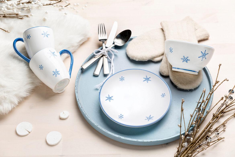 Weihnachtsdesign: Schneekristall von Gmundner Keramik