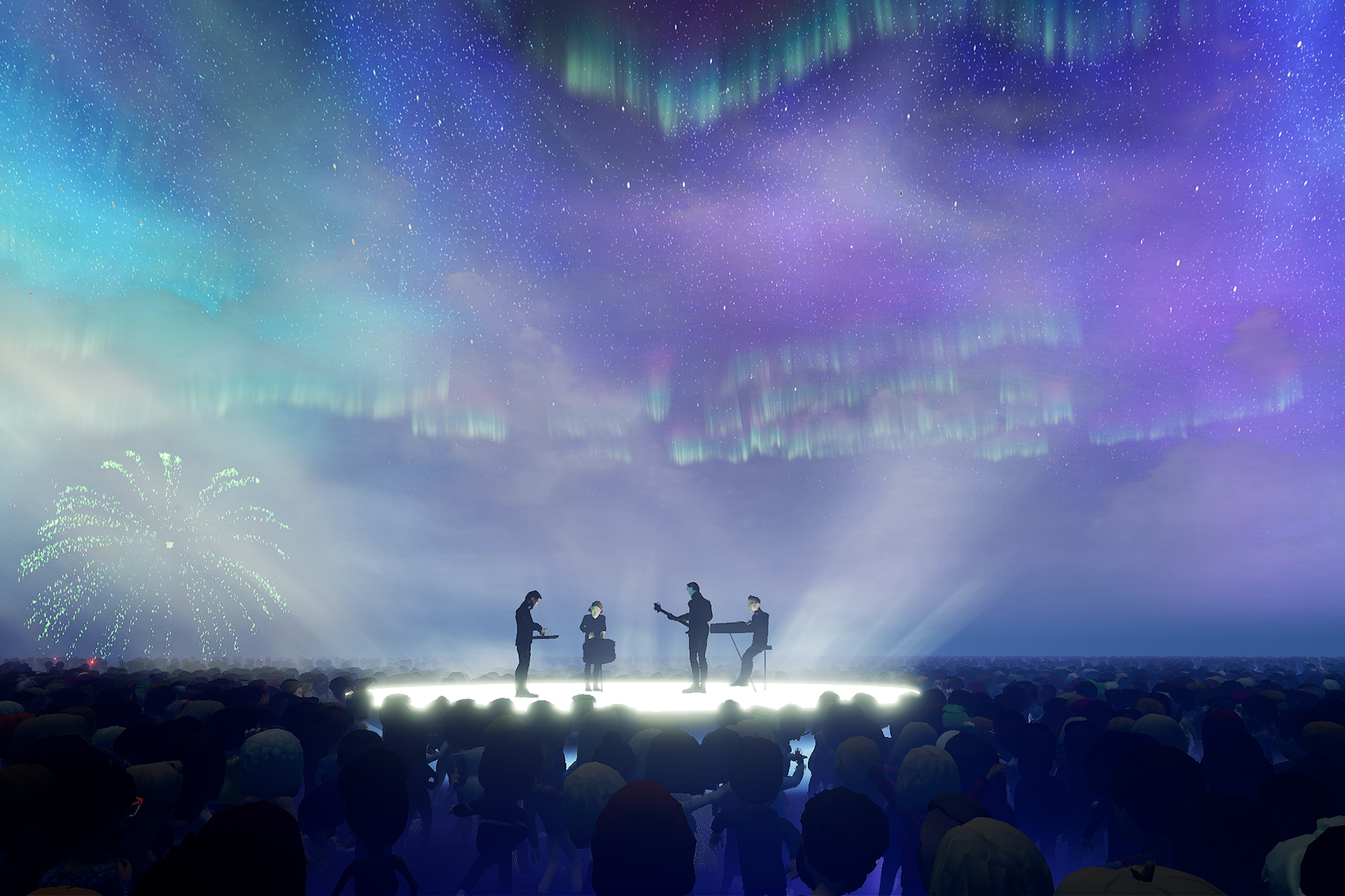 Sigur Rós flying amongst the Northern Lights