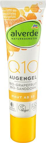 alverde NATURKOSMETIK Q10 Augengel Bio-Sanddorn Bio-Grapefruit