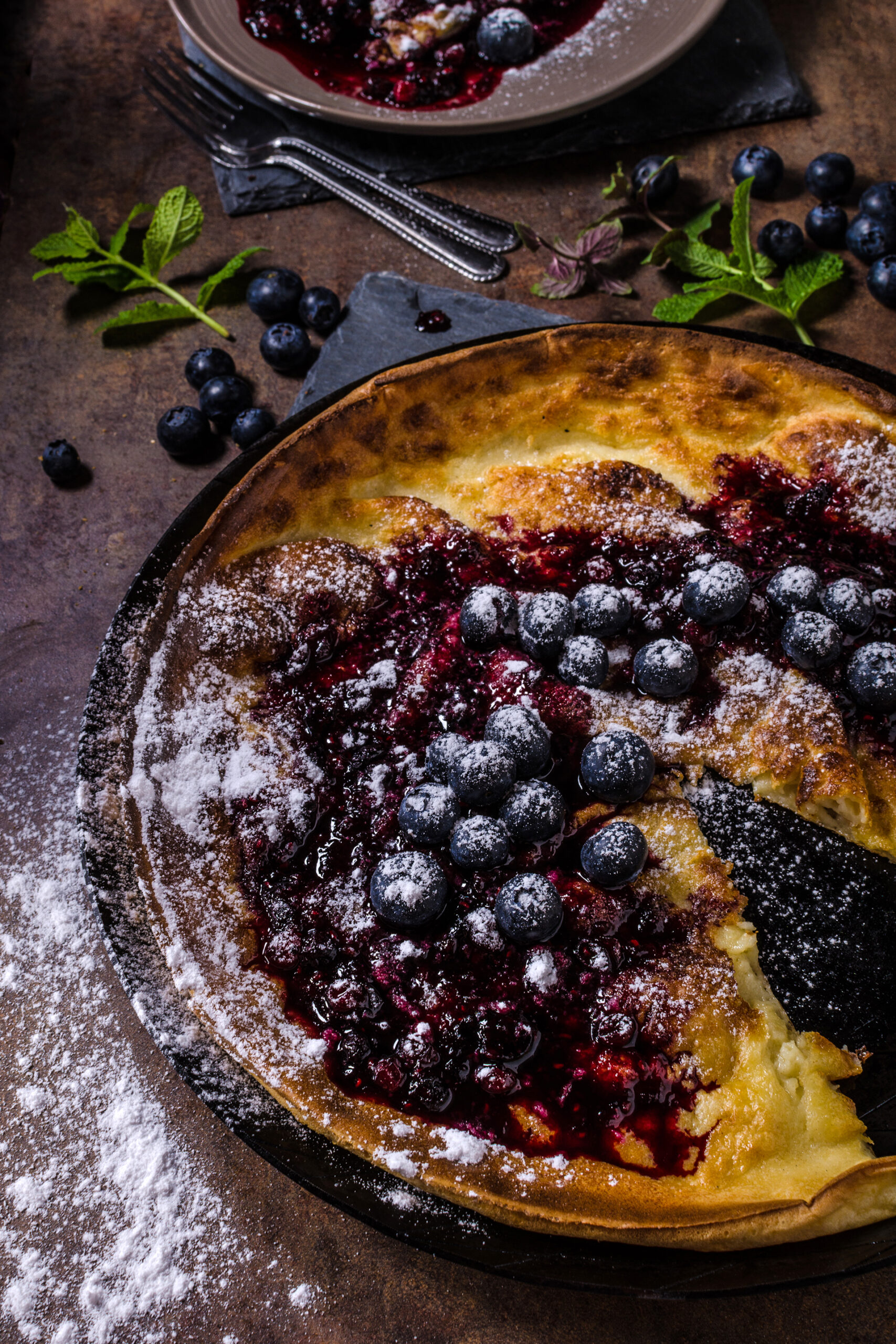 Unwiderstehlich: Blueberry Dutch Baby Pancake