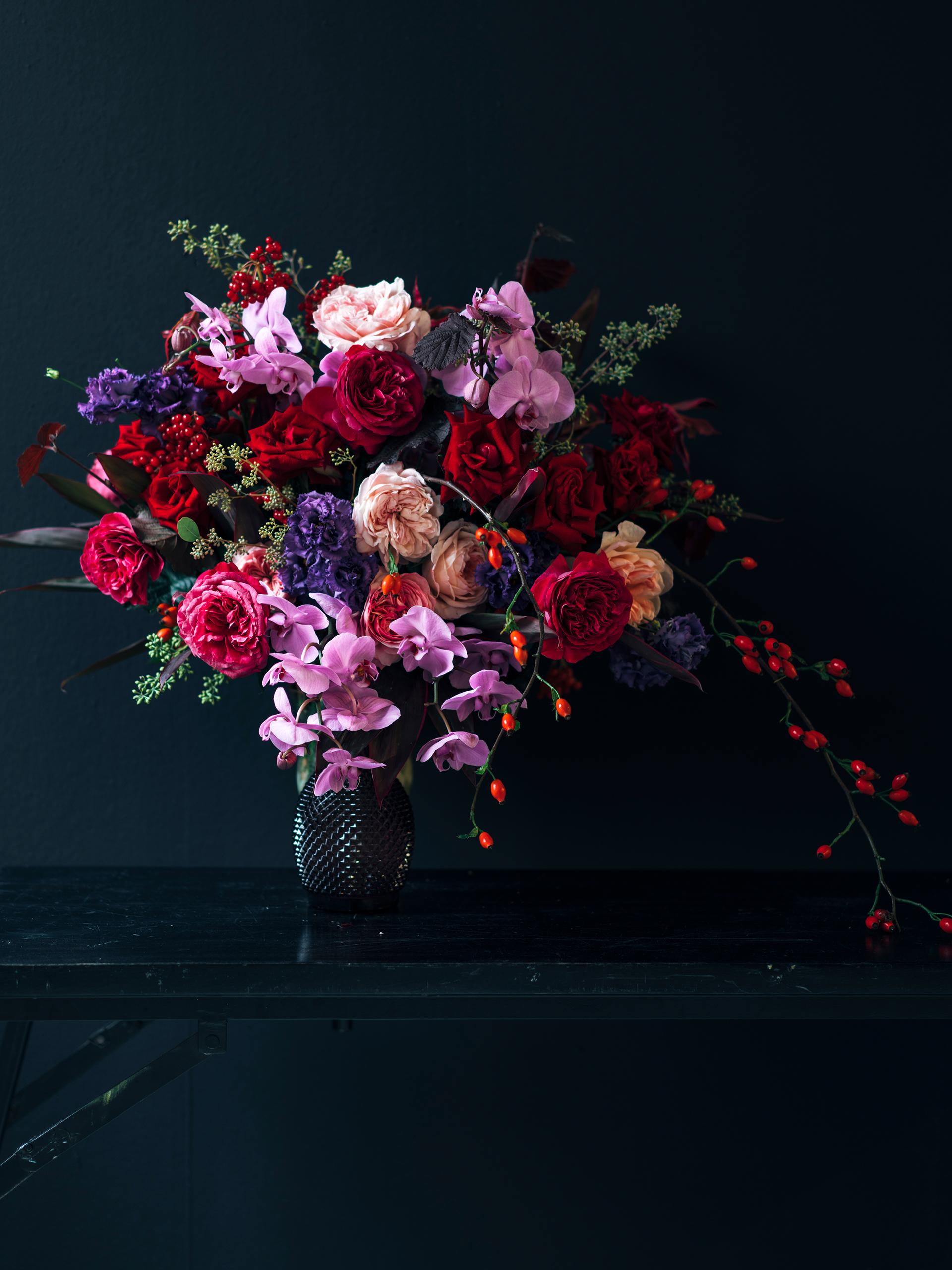 Leuchtendes Blumenbouquet mit Wow-Faktor